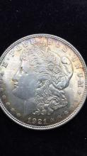 Lot 21: Morgan dollar