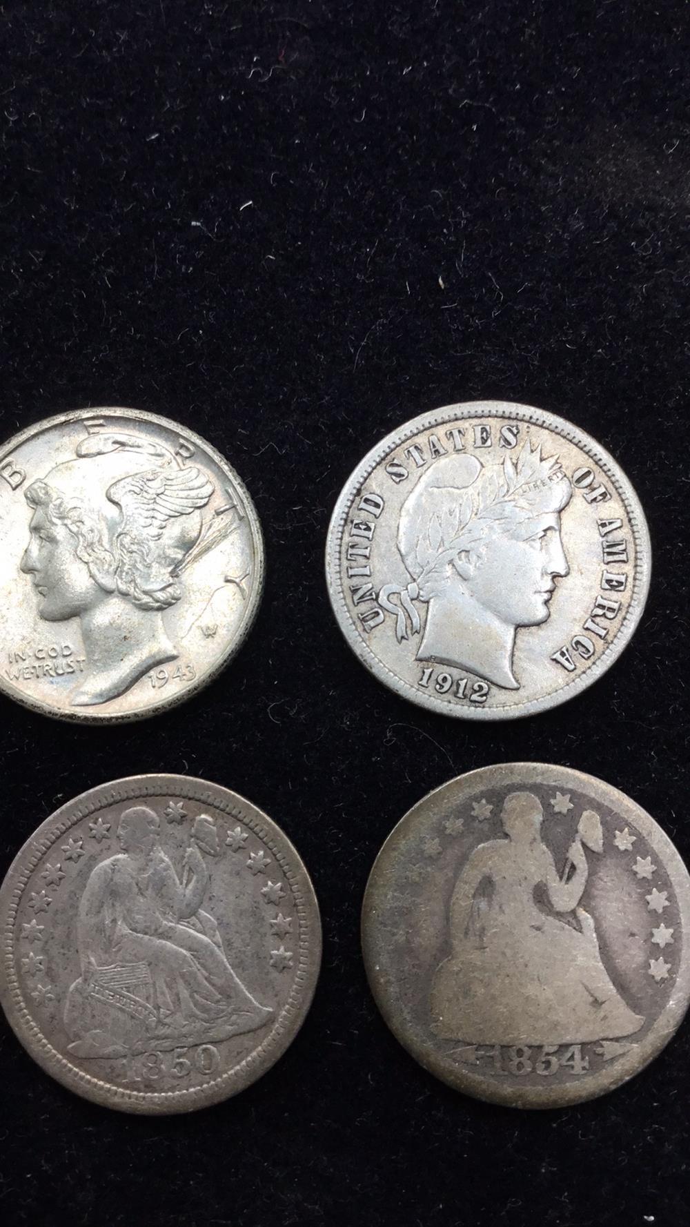 Four silver dimes