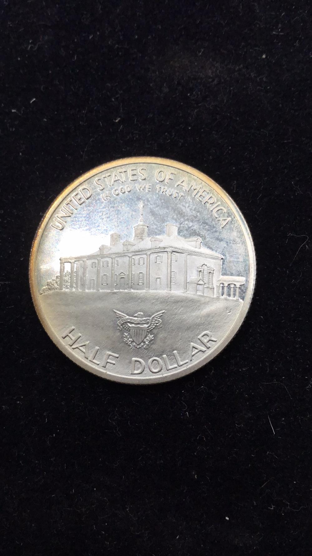 Lot 28: George Washington 250th anniversary Half Dollar