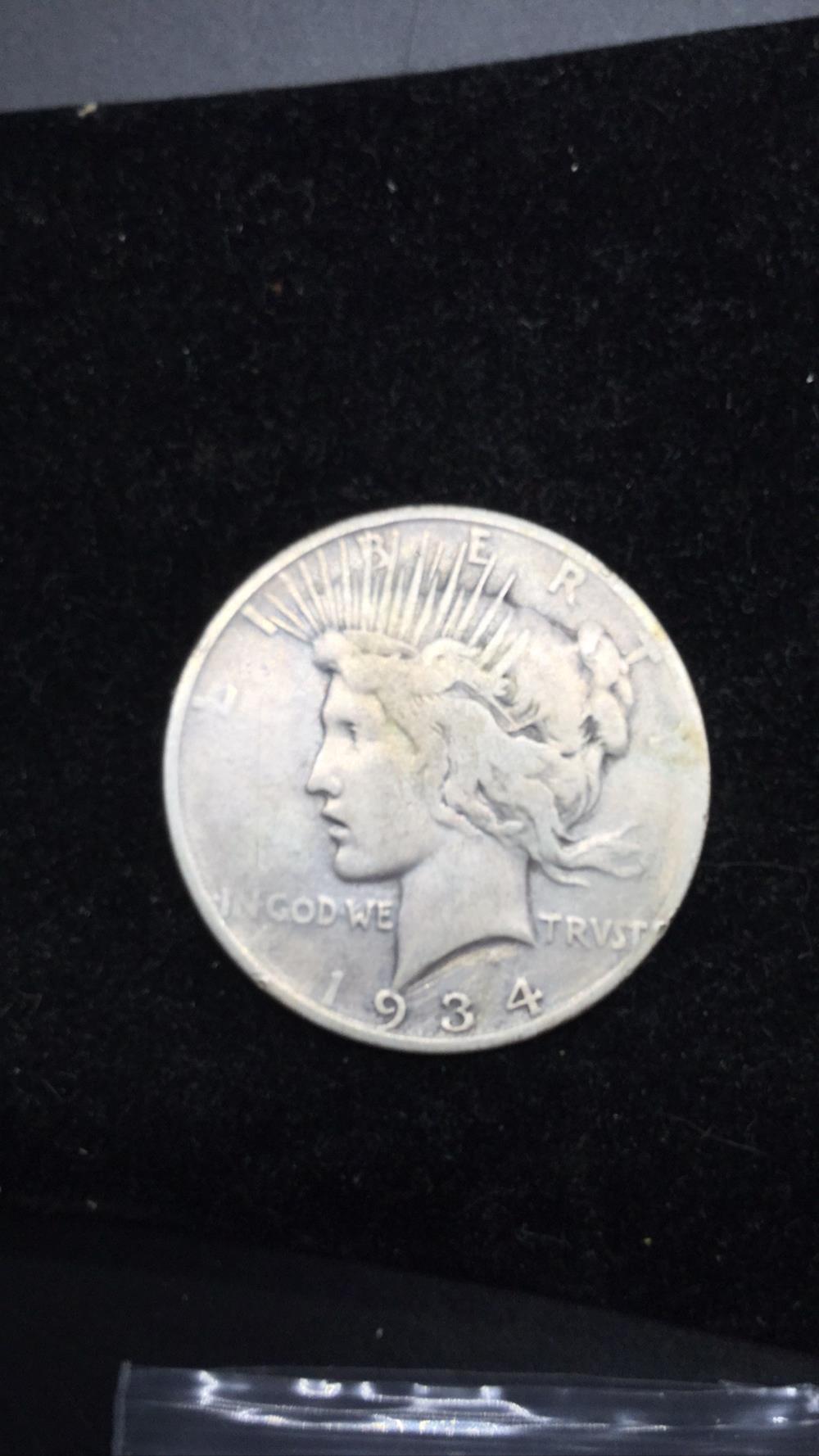 1934p Peace Dollar