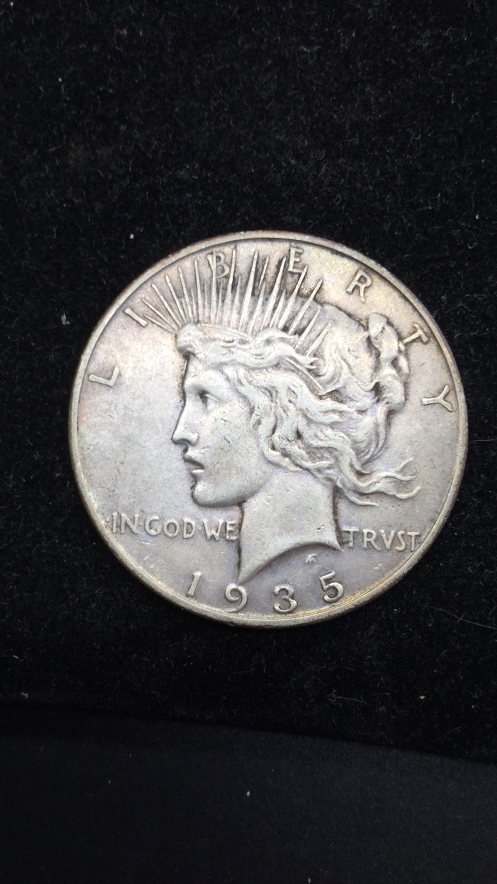 Lot 43: 1935s Peace Dollar