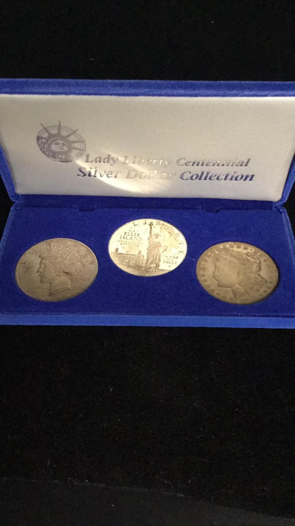 Lady liberty centennial silver dollars