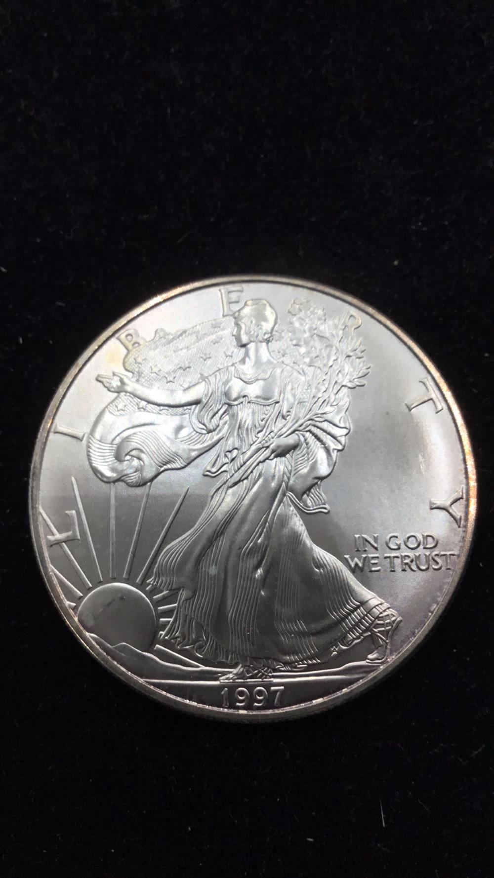 Lot 61: American eagle dollar