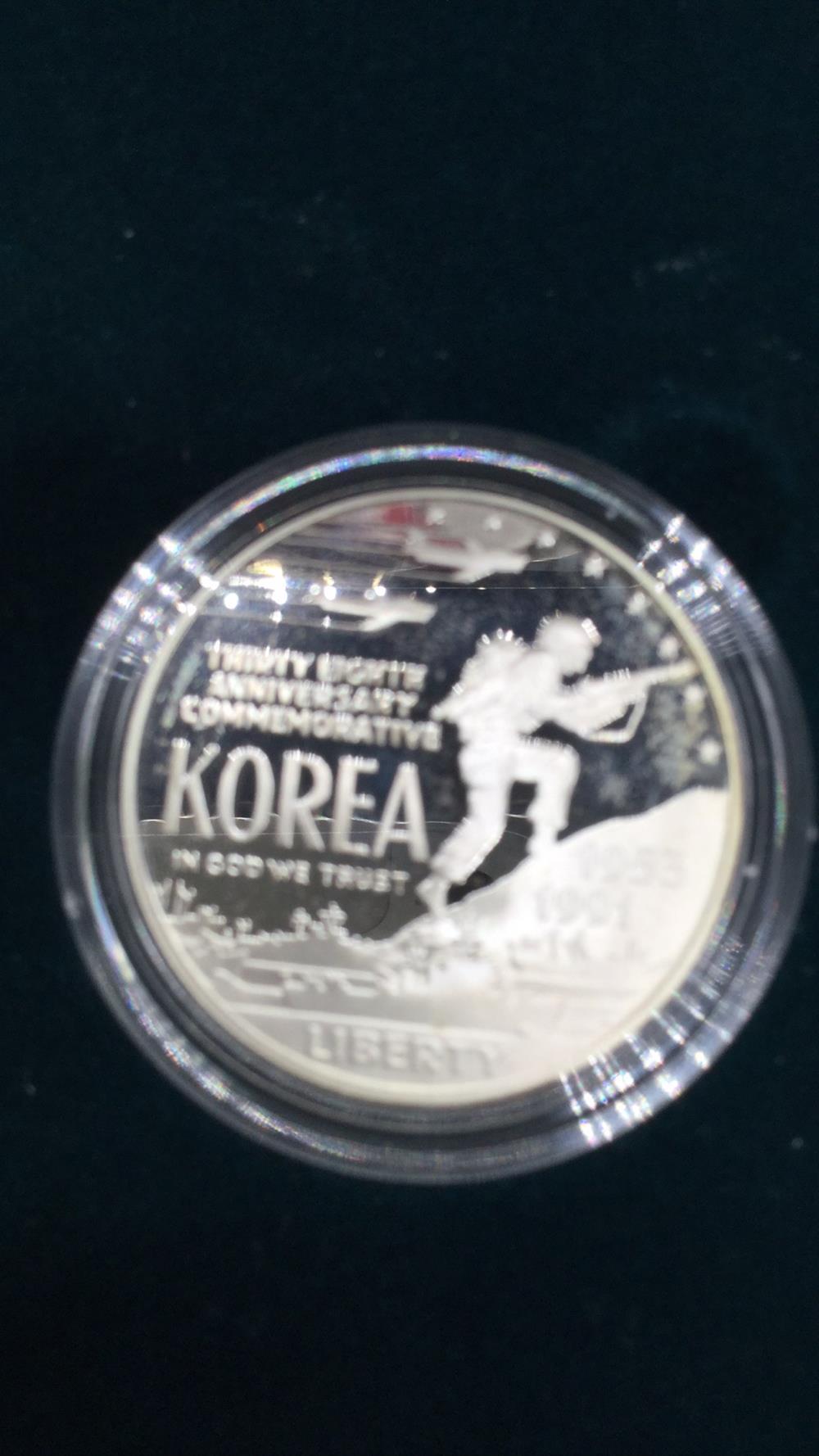 Lot 63: United States mint 1991: Korean war Memorial coin