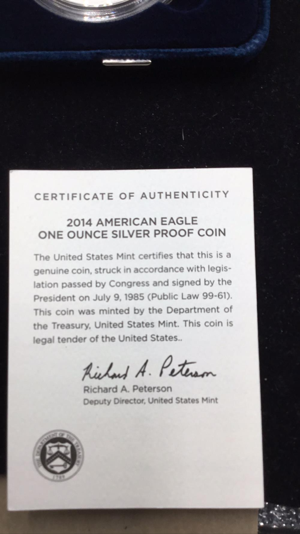 Lot 64: United States meant, American eagle 1 ounce