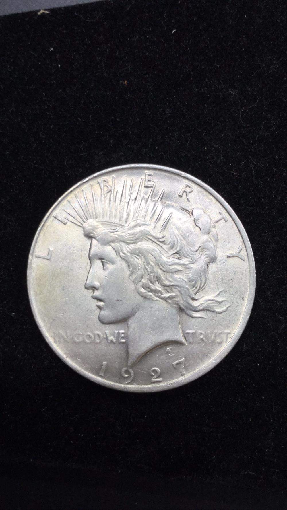 1927p peace dollar