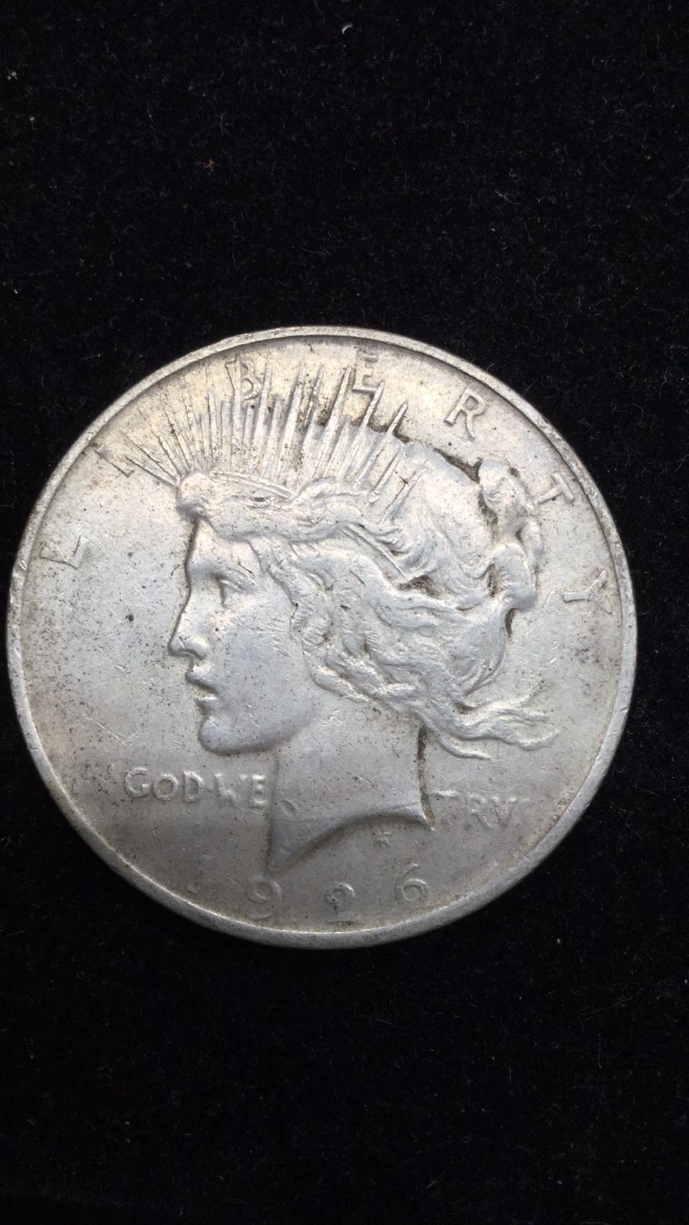 1926P peace dollar