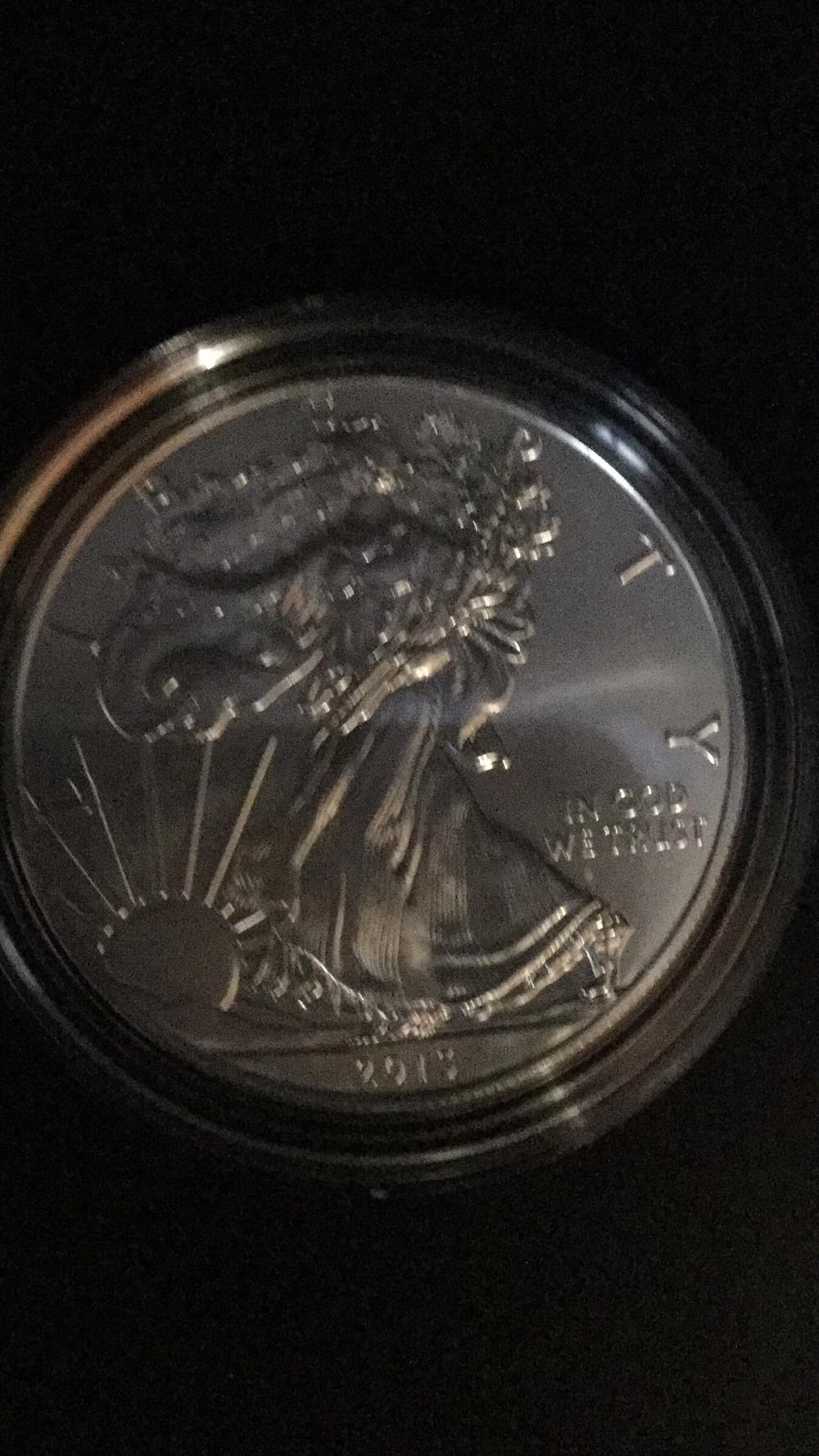 Lot 74: American eagle uncirculated coin