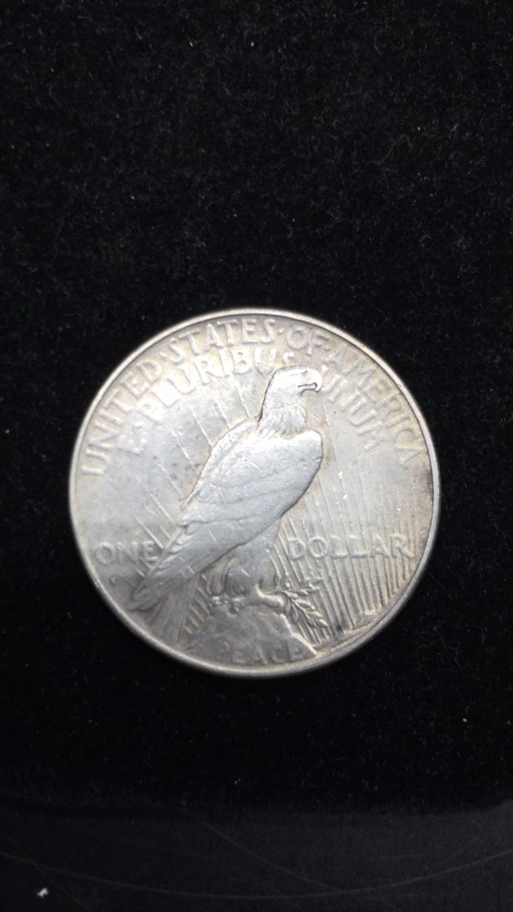 Lot 75: 1927 peace dollar