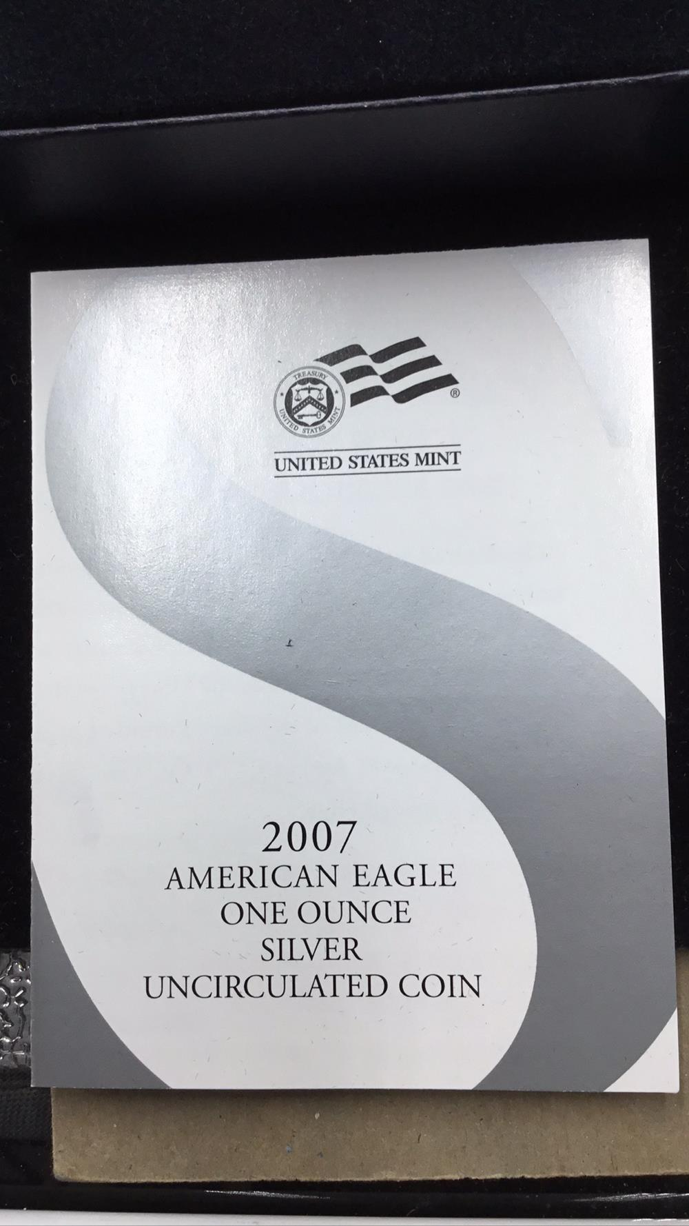 Lot 91: United states meant American eagle 1 ounce silver