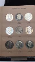 Lot 94: Nine Eisenhower dollars