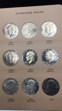 Lot 96: Nine Eisenhower dollars