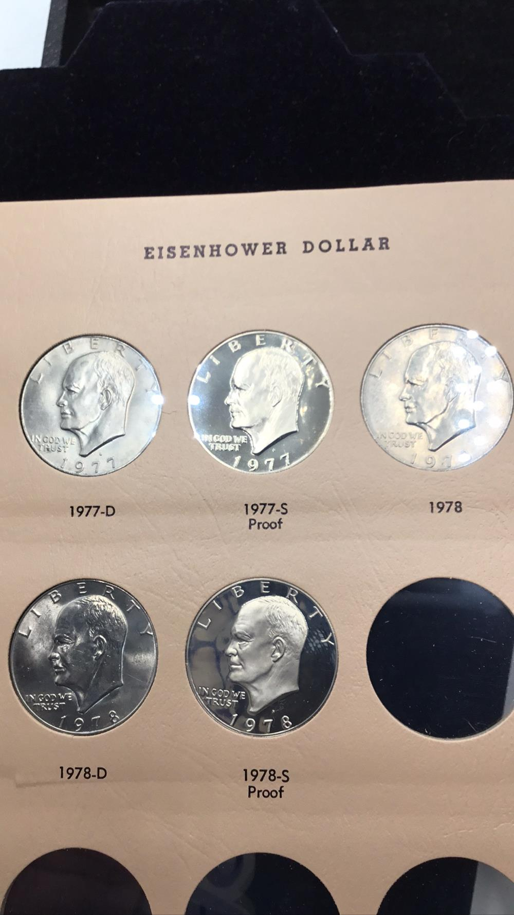 Lot 97: Five Eisenhower dollars