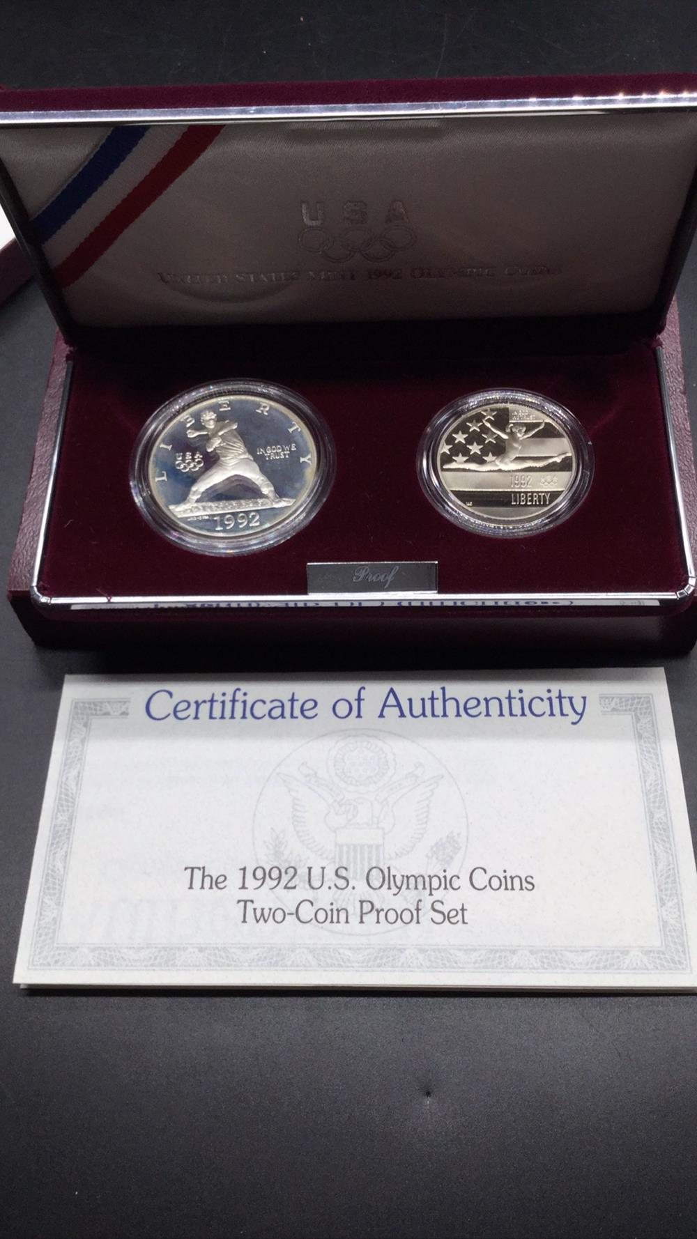 1992 US Olympic Two coin set