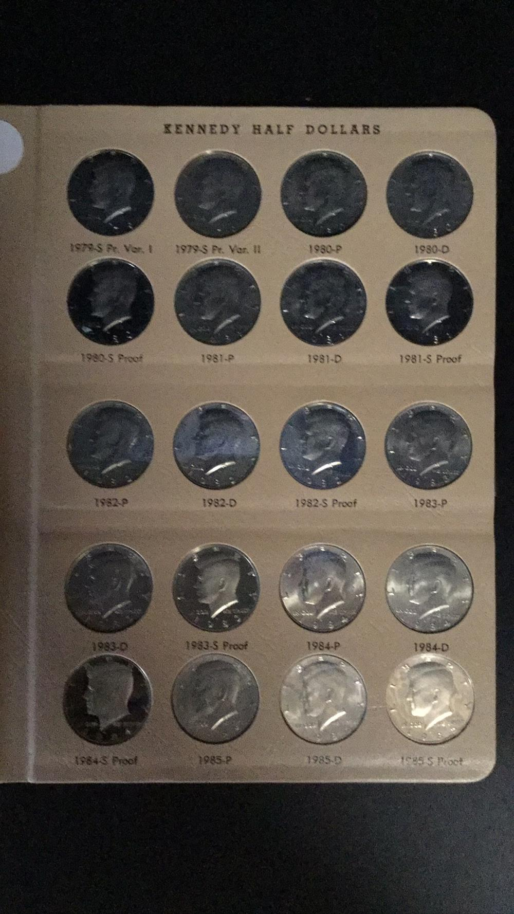Kennedy half dollar sheet