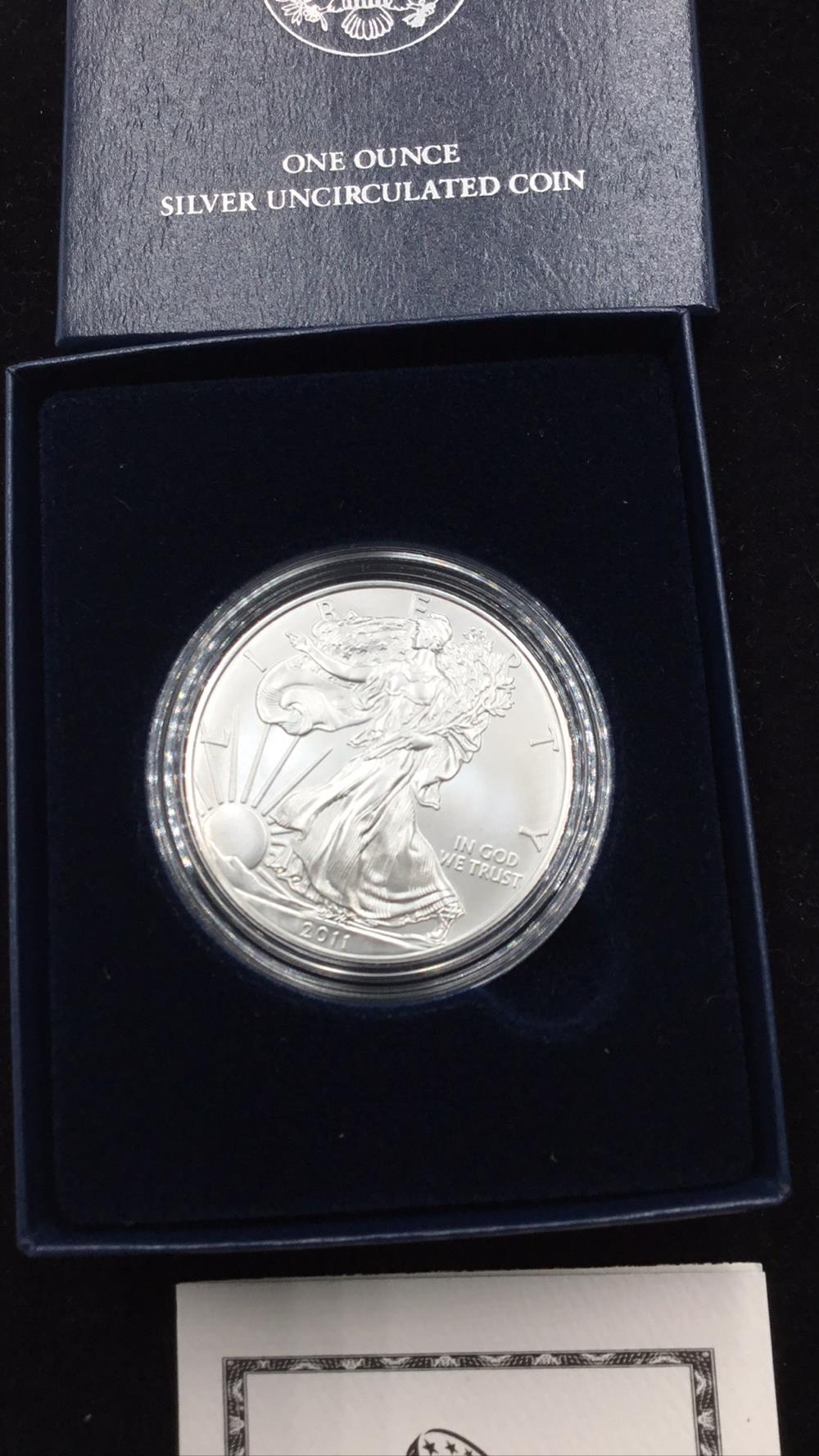 Lot 102: United states mint American eagle 1 ounce silver