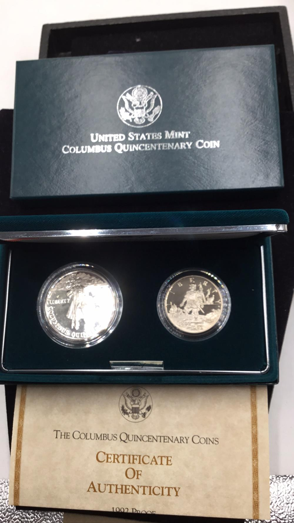 United states mint Columbus Quincentenary Coins