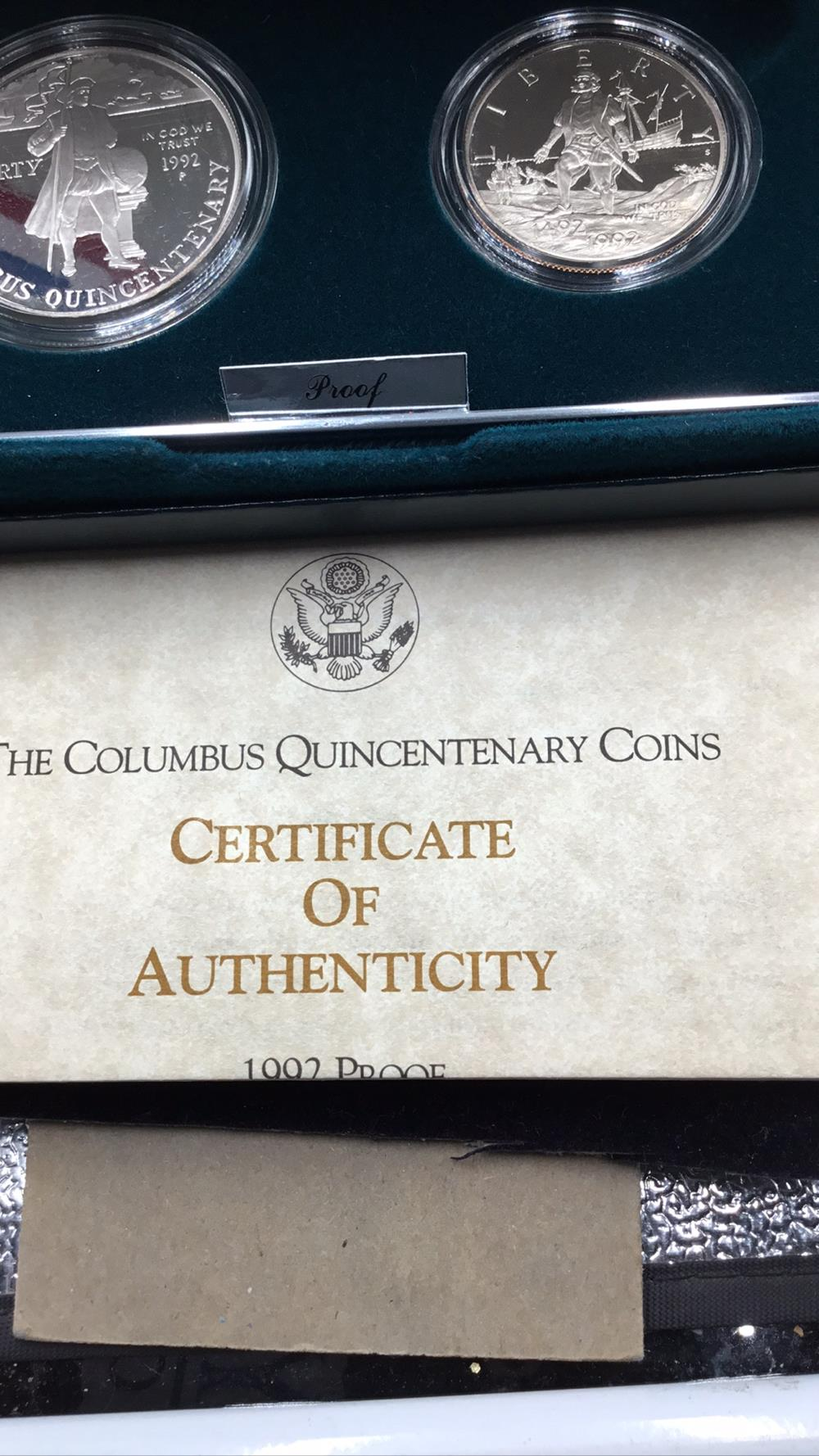 Lot 105: United states mint Columbus Quincentenary Coins