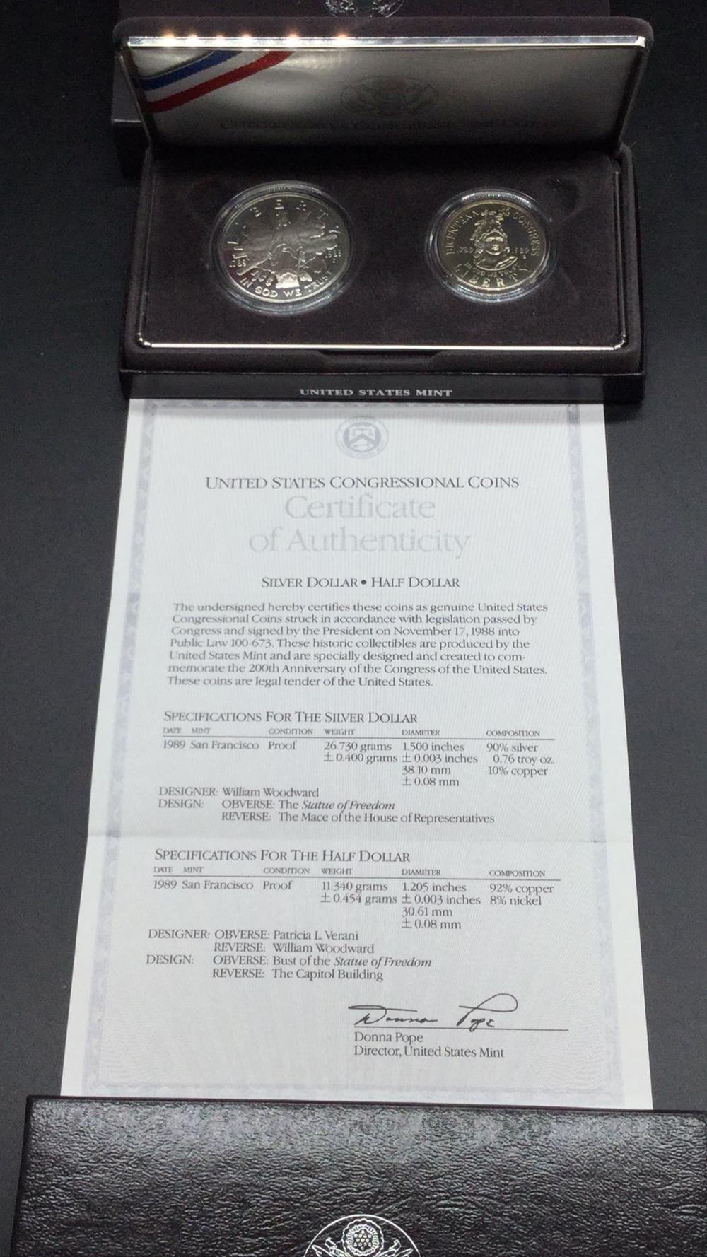 Lot 111: Congressional coins
