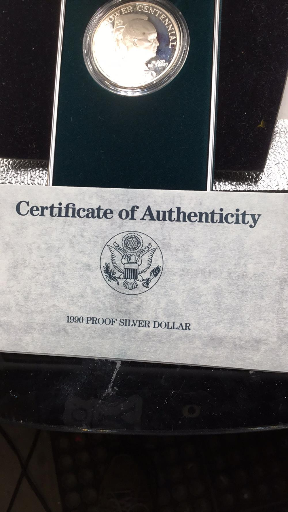 Lot 112: United states Eisenhower centennial Silver Dollar