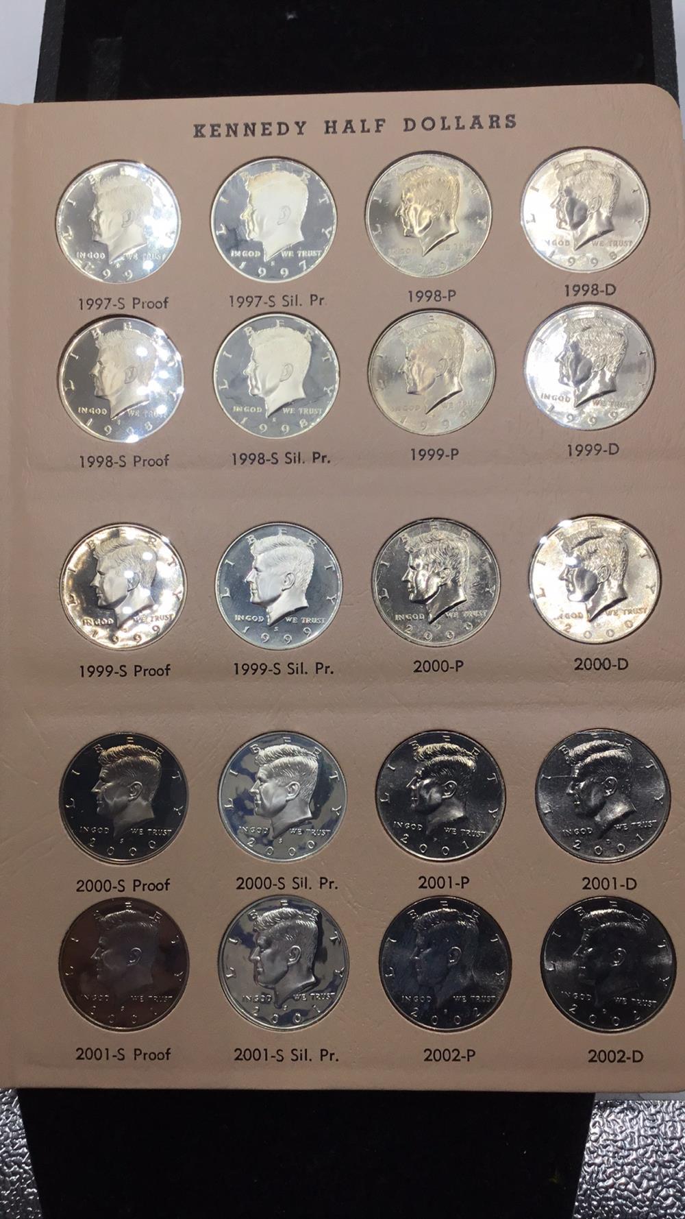 20 Kennedy half dollars