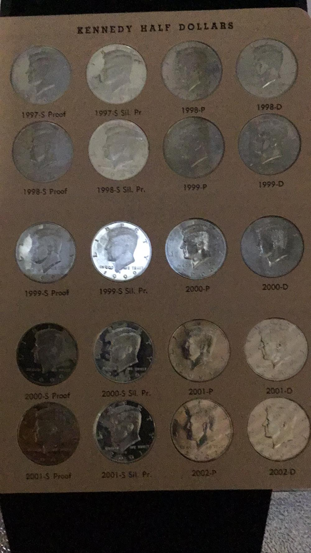 Lot 114: 20 Kennedy half dollars