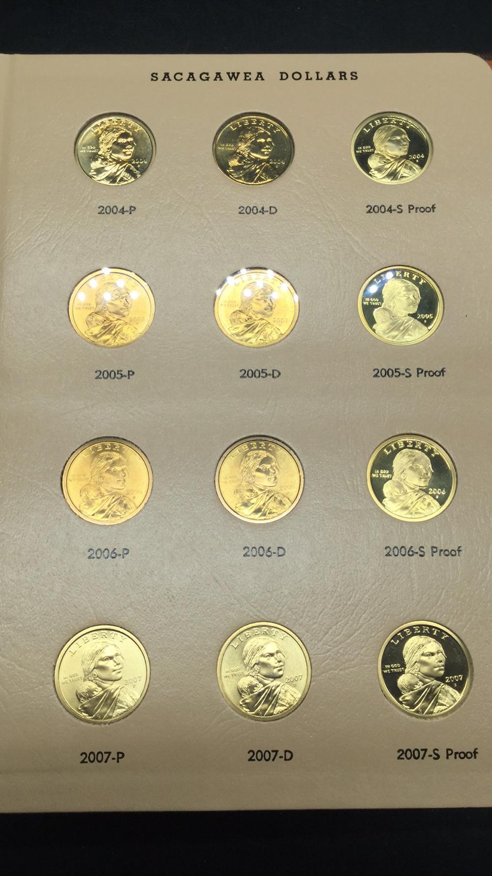 Lot 121: Sacajawea dollars including proof book