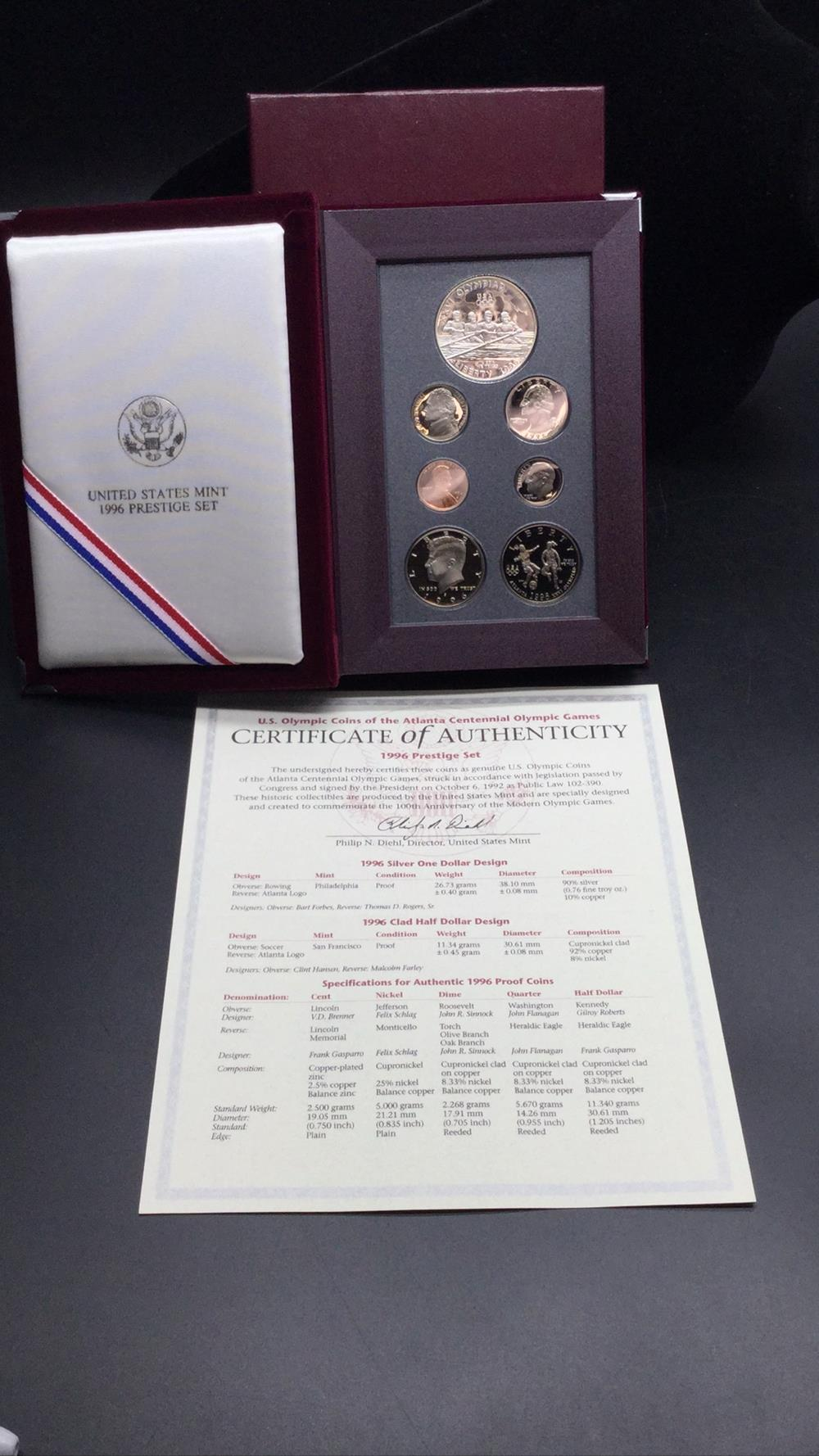 1996 prestige coin set