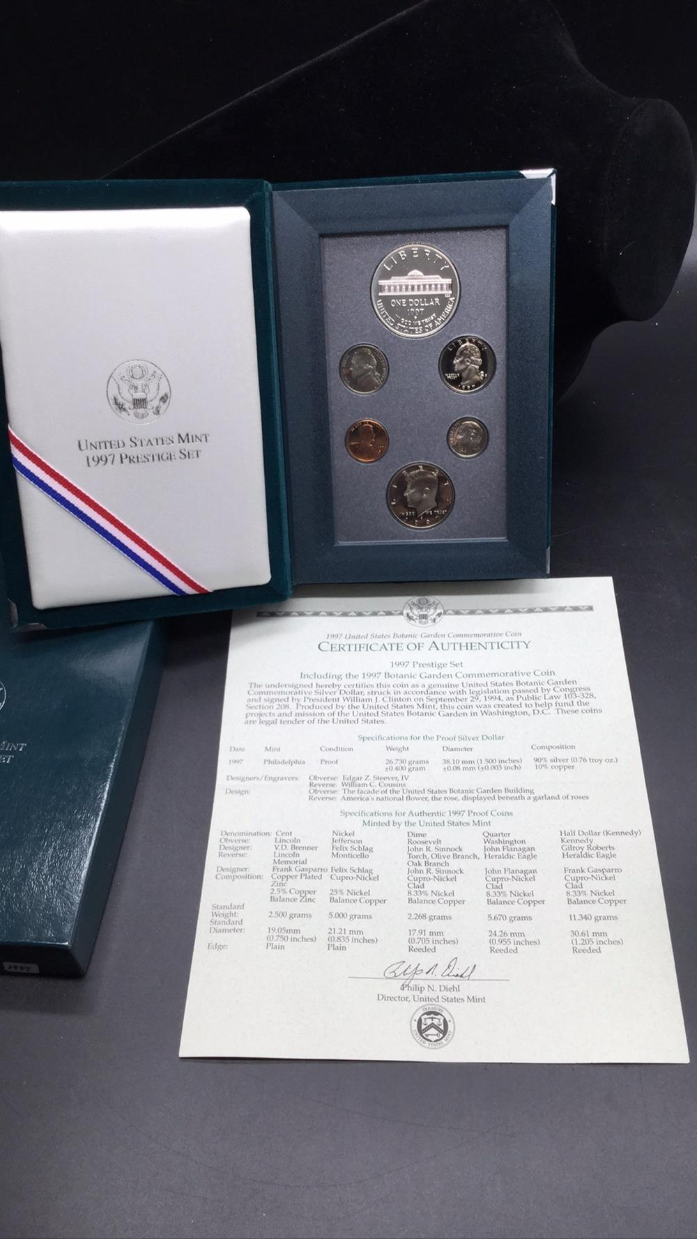 1997 botanical garden commemorative coin set