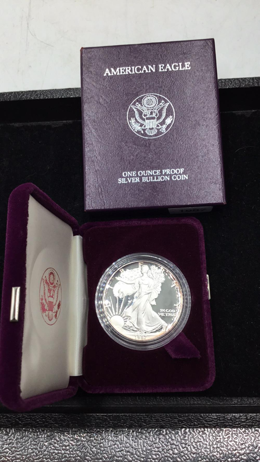American eagle 1 ounce proof silver bullion coin