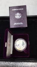 Lot 134: American eagle 1 ounce proof silver bullion coin