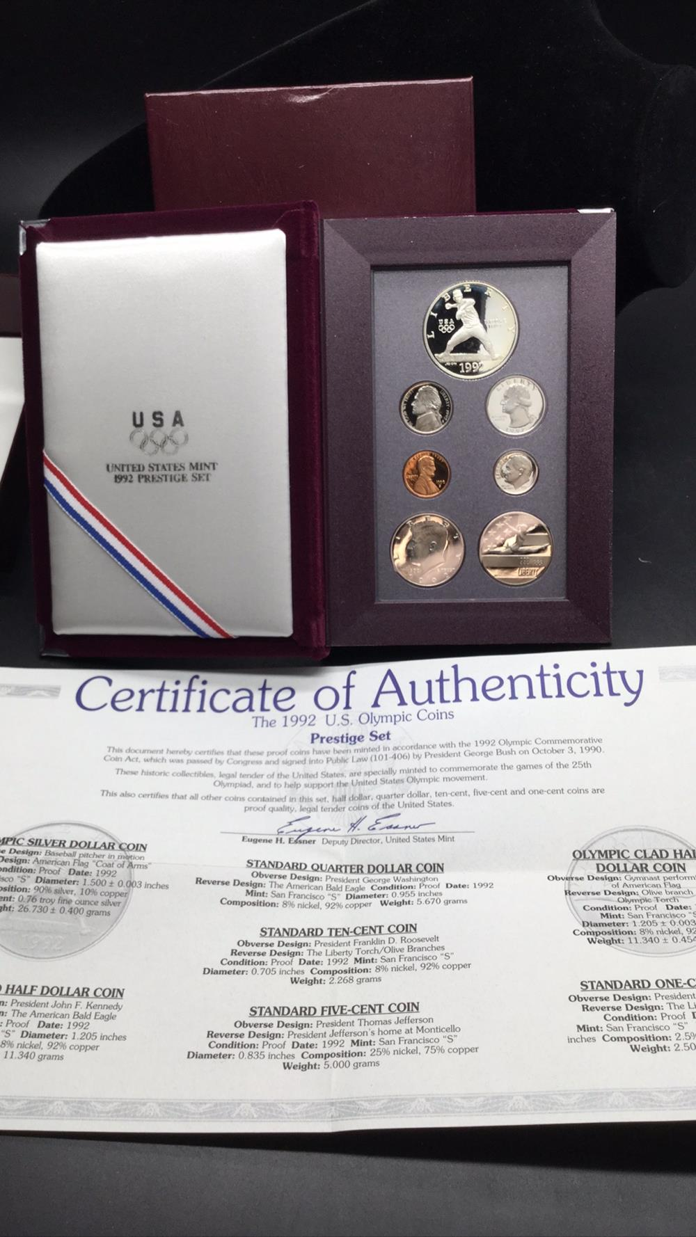 1992 us olympic coins restive set