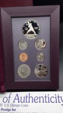 Lot 135: 1992 us olympic coins restive set