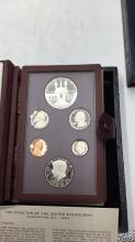 Lot 137: United States mint Olympic silver proof dollar set