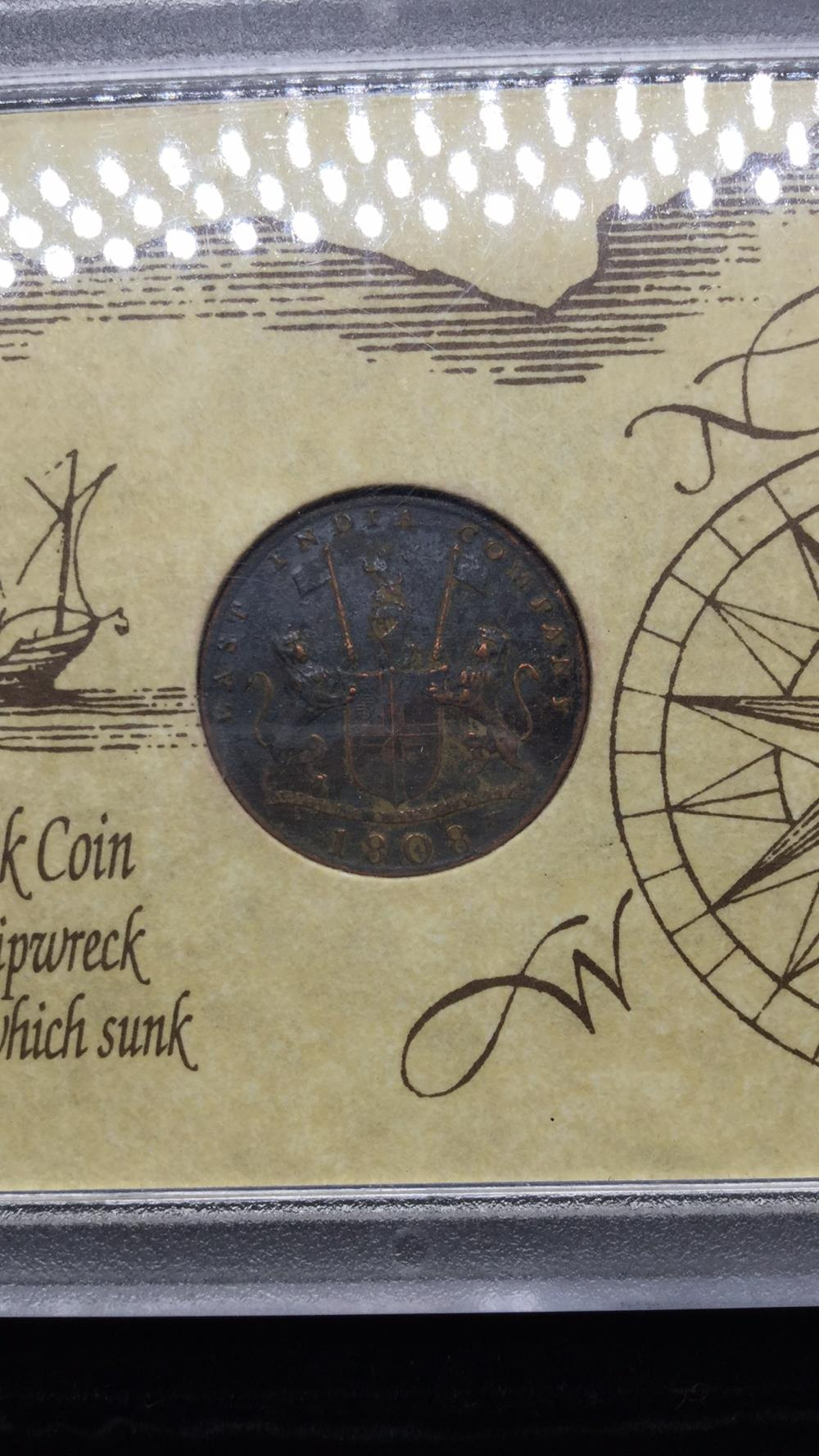 Lot 139: 186 year old shipwreck coin