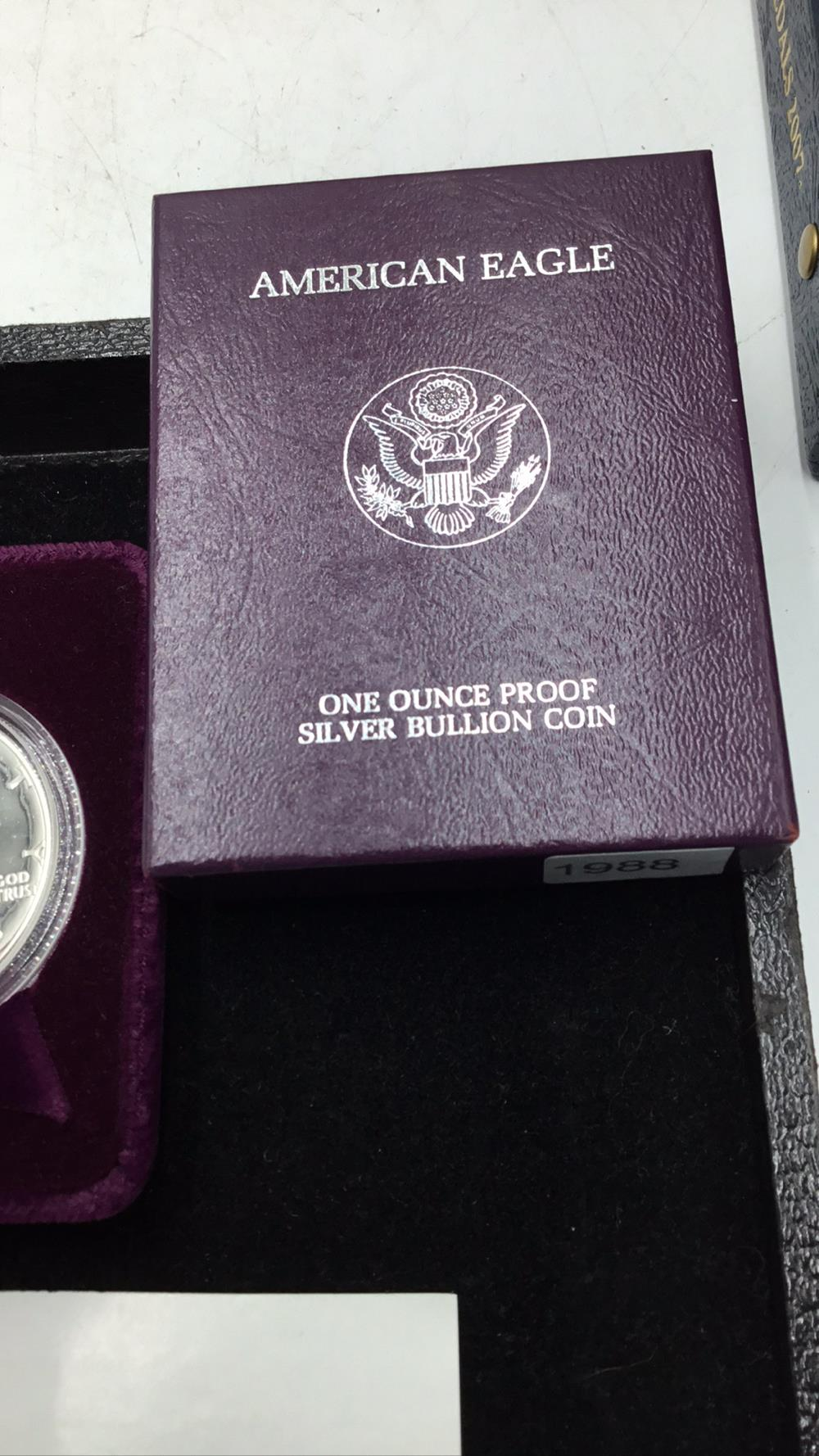 Lot 140: American eagle 1 ounce proof silver bullion coin