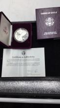 Lot 141: American Eagle one else proof silver bullion coin