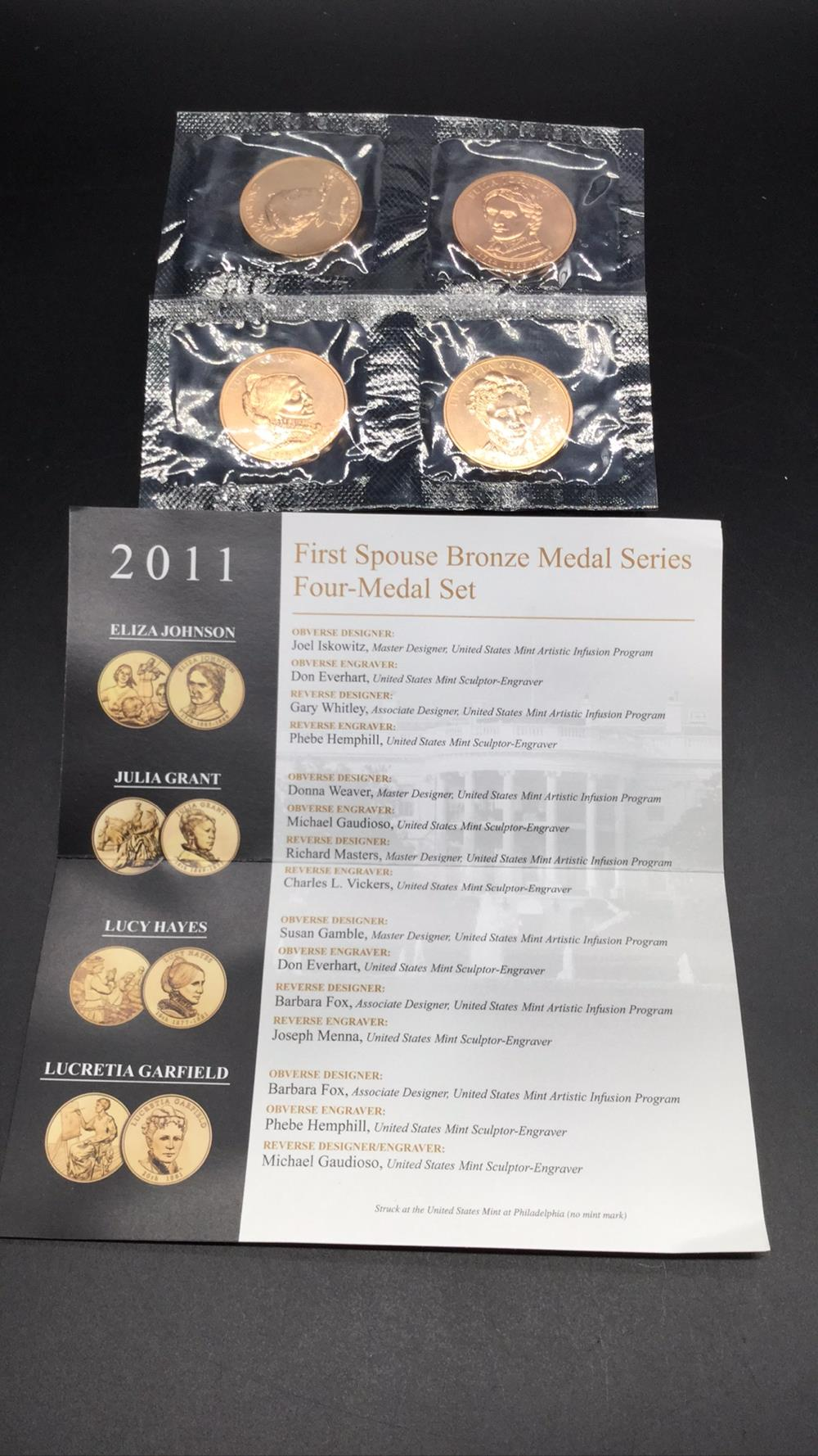 2011 first spouse bronze medal series