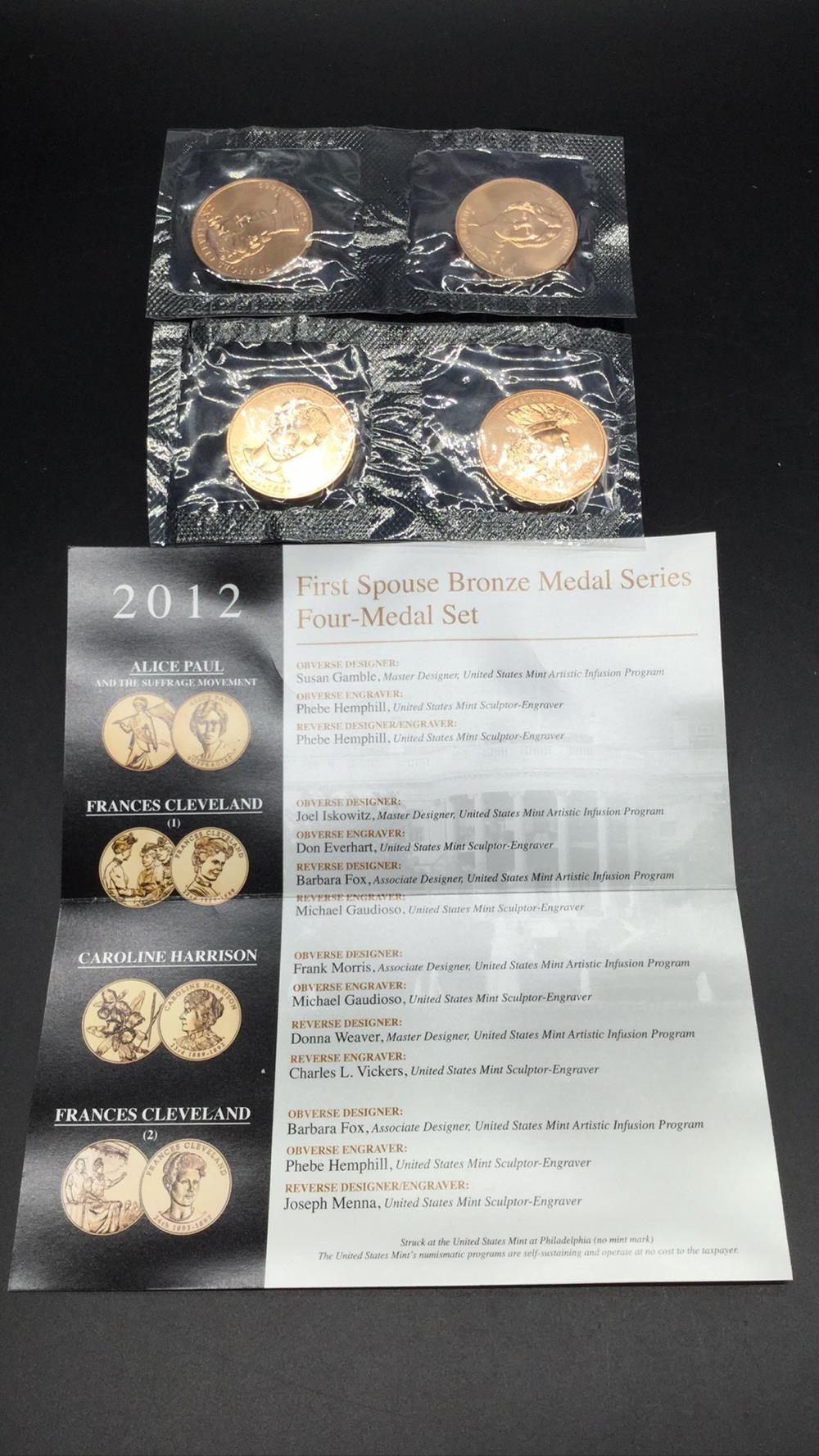 2012 first spouse bronze metal series