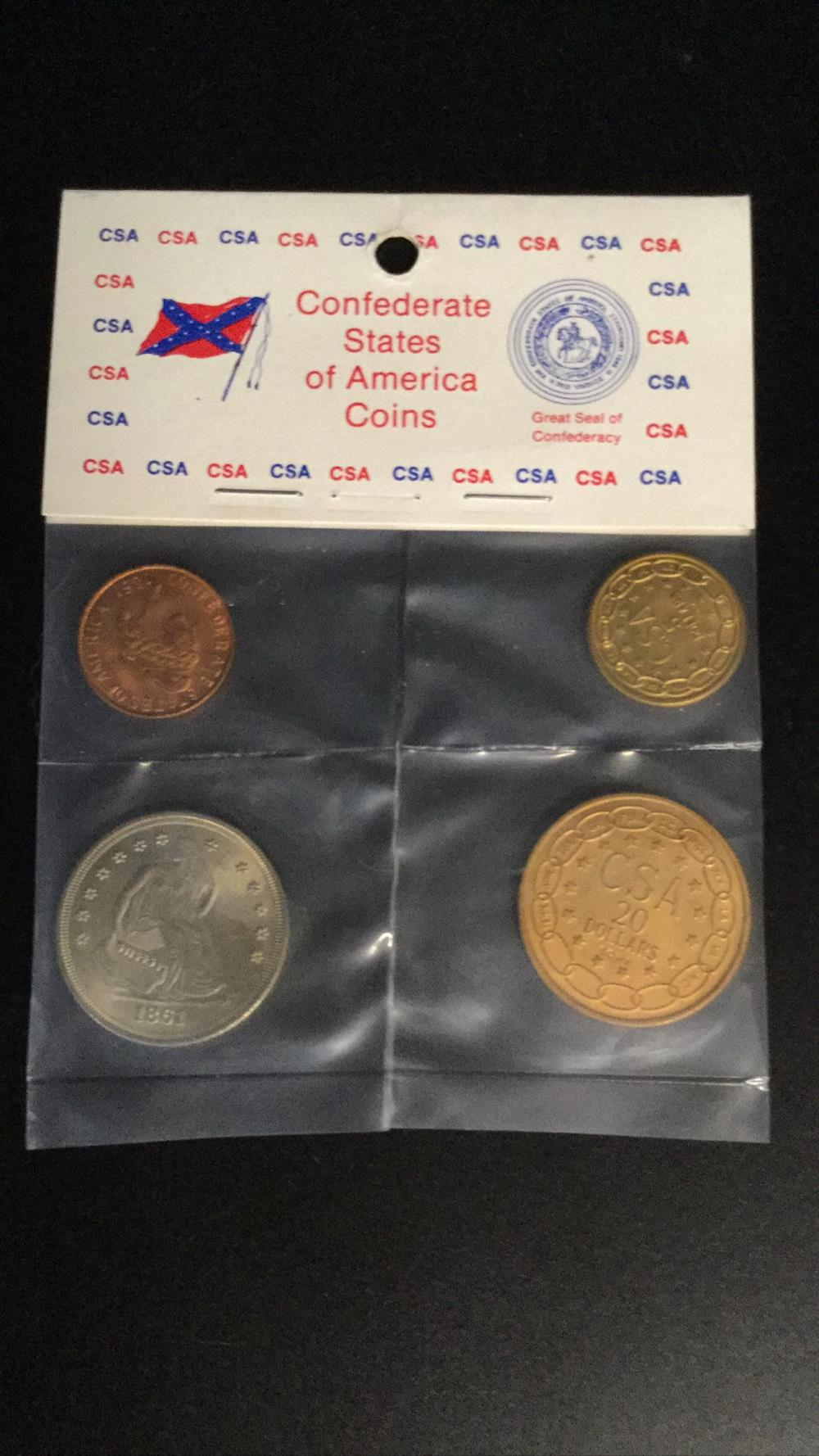 Lot 148: Confederate states of America coins