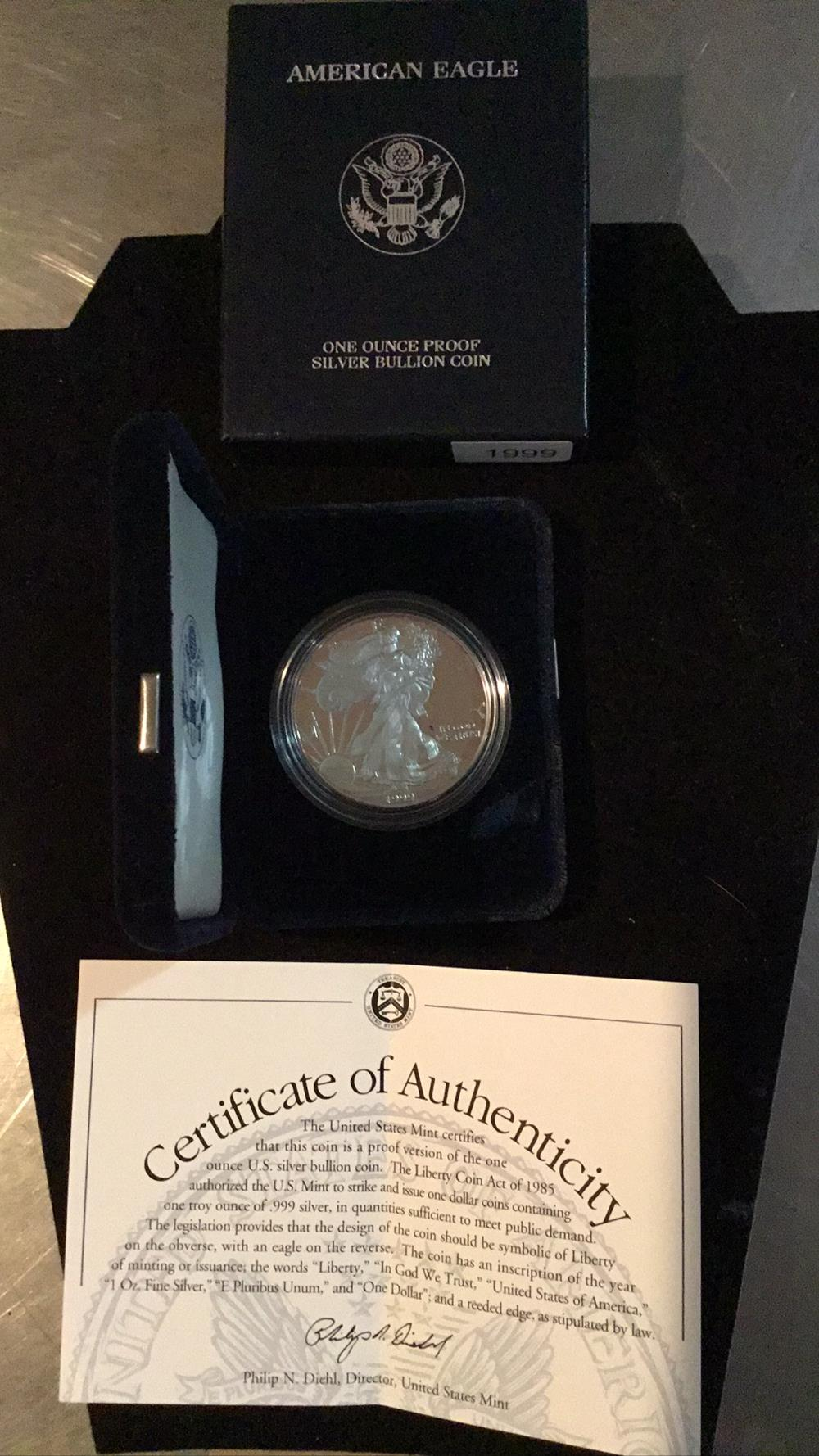American Eagle one else proof silver bullion coin
