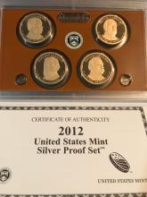 Lot 165: 2012 and nine statement Silver proof set