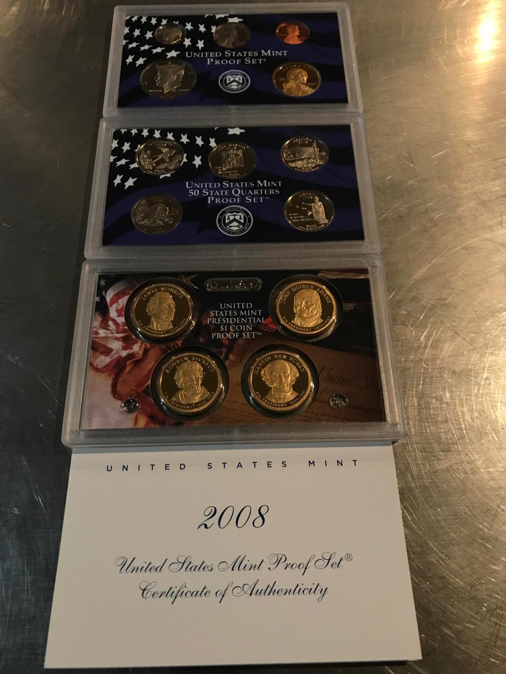 2008 United States mint proof set with