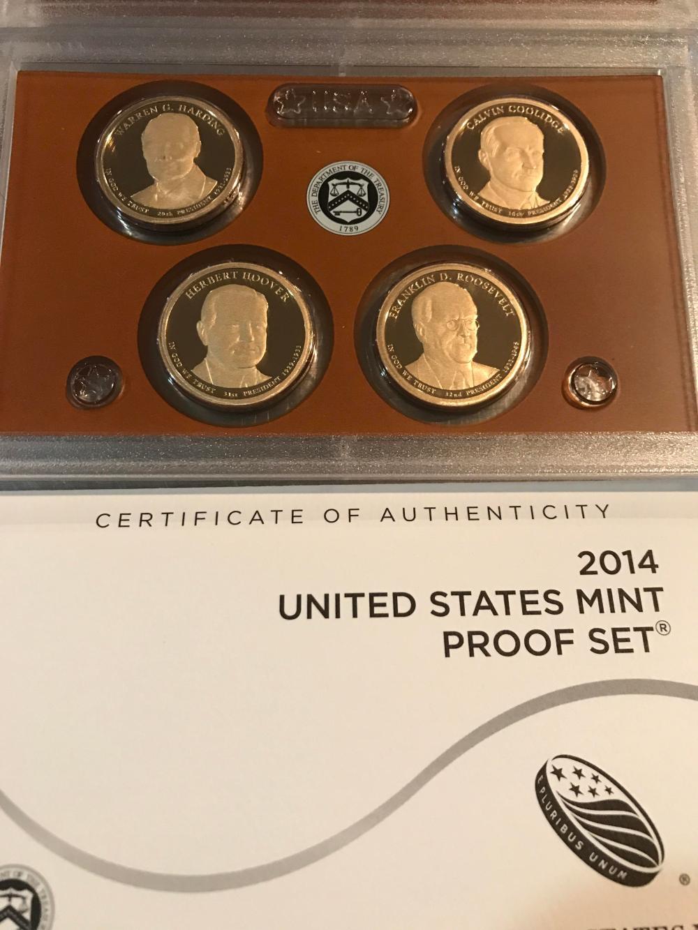 Lot 176: 2014 United States mint proof set