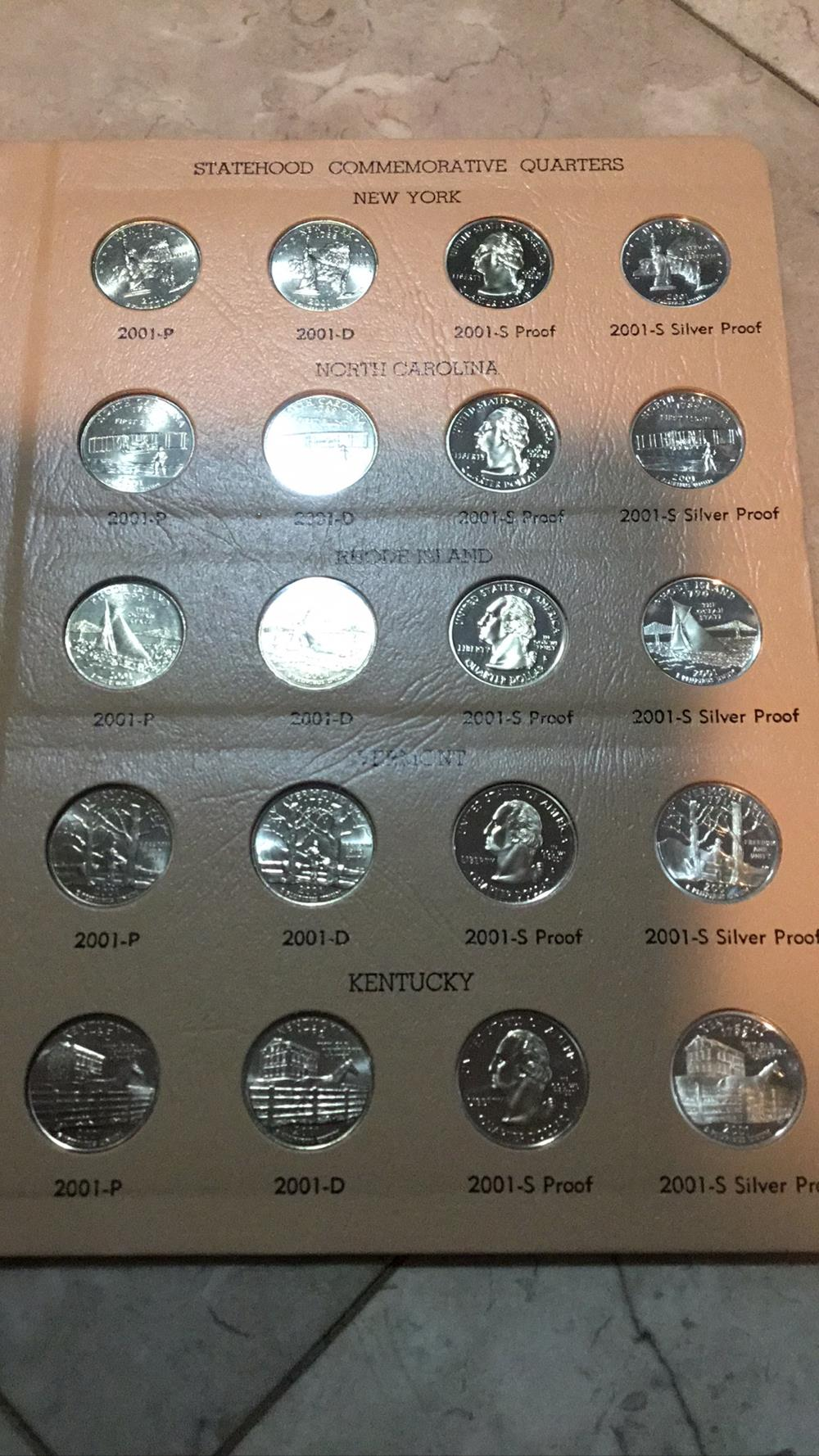 Lot 181: Statehood commemorative quarters sheet