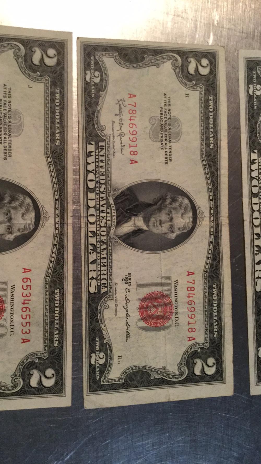 Lot 182: Three $2 dollar bills