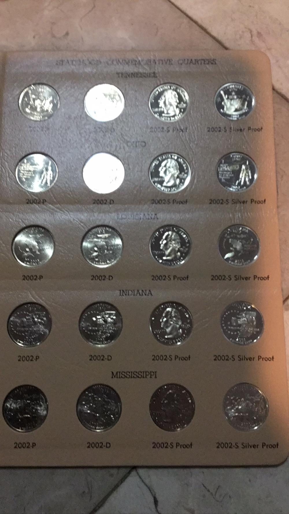 Statehood Commemorative Quarters sheet