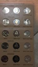 Lot 184: Statehood commemorative quarters sheet