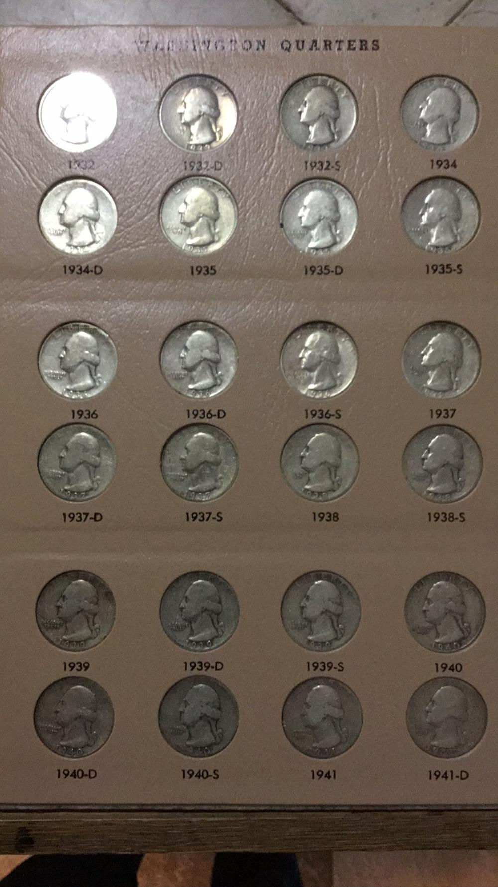 Washington Quarters Sheet