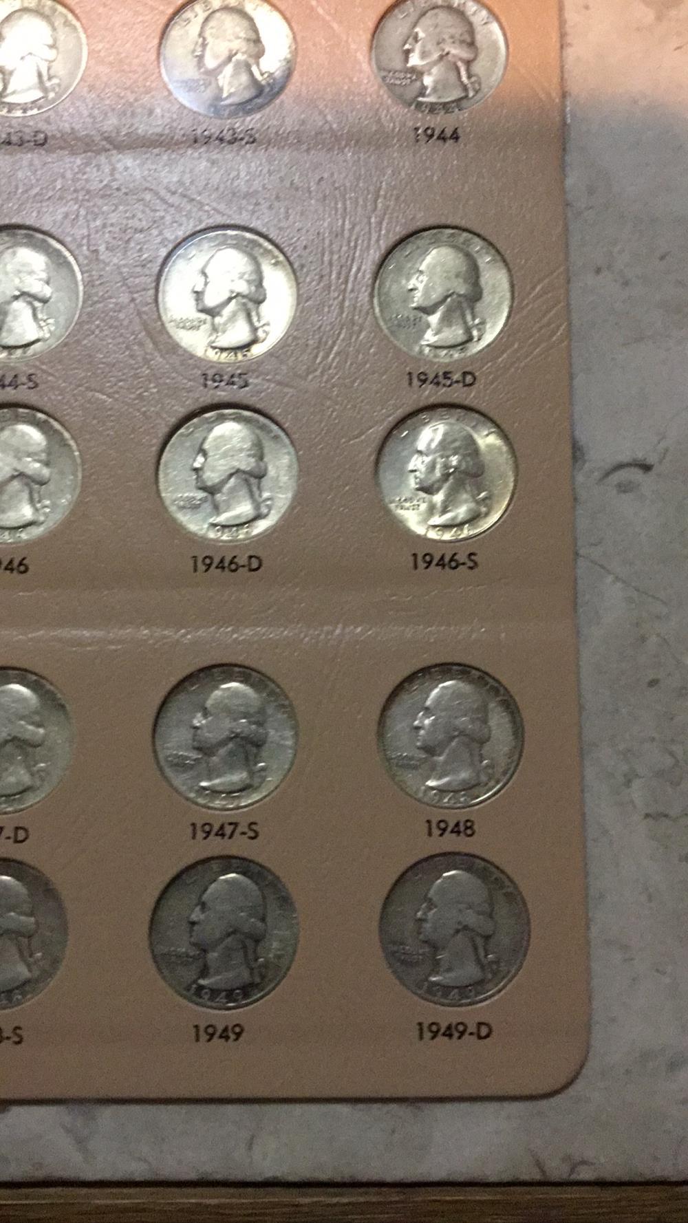 Lot 192: Washington quarters sheet